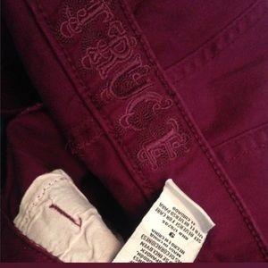 TRUCE Jeans - TRUCE Purple Skinny Jeans Sz 7 w/ Embellishments